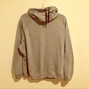 Nike Funnel Neck Sweatshirt Tie Gray Black XL